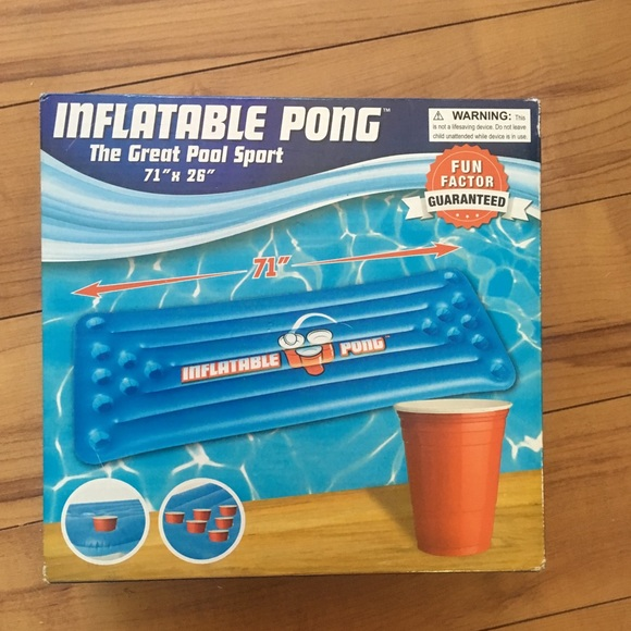 🔥2 for $20 BNIB Inflatable Pong Pool Game